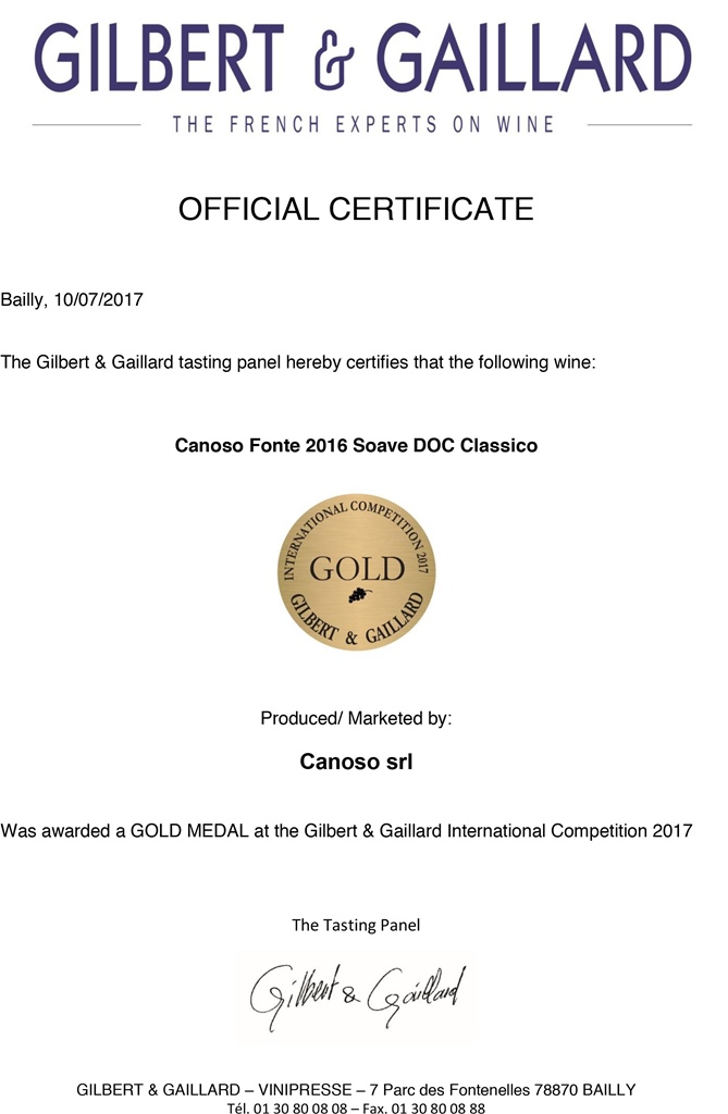 International Award  Gilbert&Gaillard