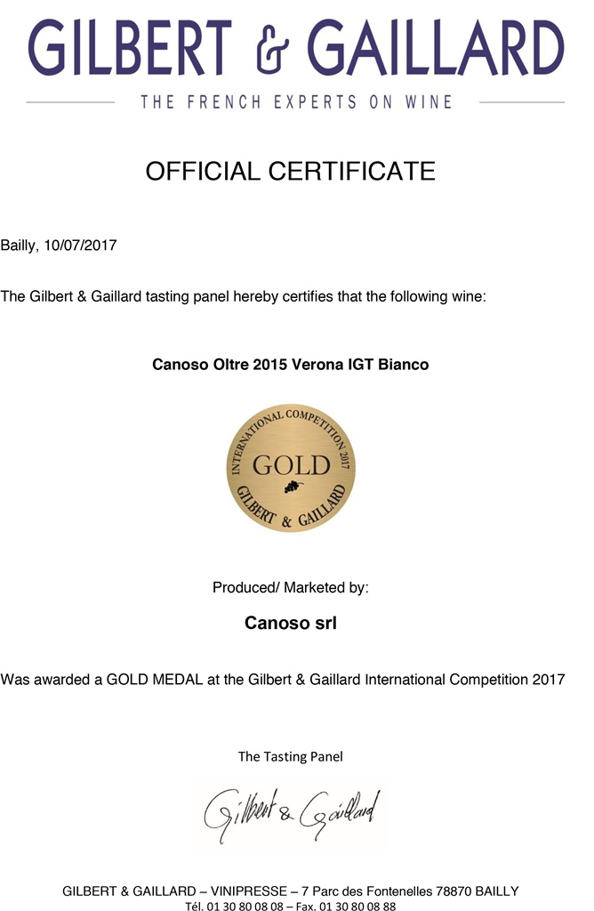 Gold Medal Gilbert&Gaillard